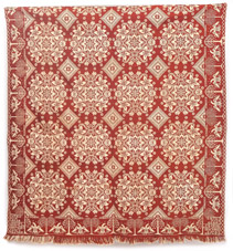 Early Nortwic 1837 Jacquard Coverlet