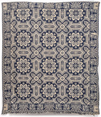 Early Jacquard Coverlet