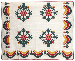 Early Hand Stitched Applique Quilt
