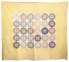 Unusual Pieced Quilt With Conestoga Wagon