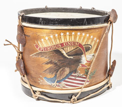 Civil War Era Decorated Snare Drum