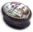 Admiral Nelson Memorial Enameled Patch Box