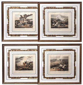 Four Hand Colored Napoleonic Wars Prints