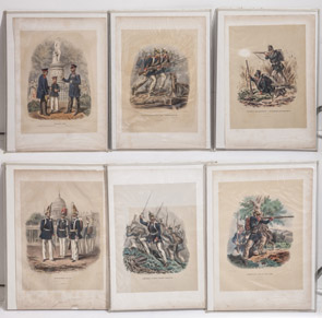 Six Early German Military Prints