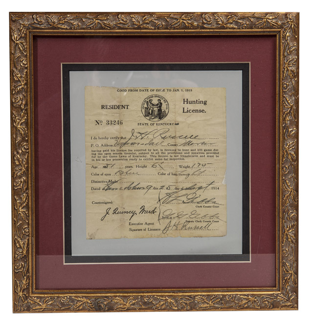 Forsythes 39 auctions llc cincinnati antiques auction for Ky fishing license