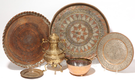 Group of Middle Eastern Copper & Brass