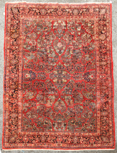Semi Antique Oriental Room Size Rug