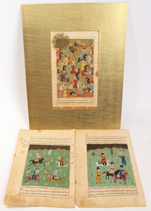 Moghal Illuminated Manuscript Pages