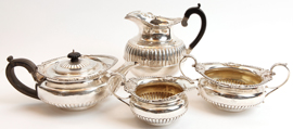 Sterling Silver Tea Set by Walter and John Barnard