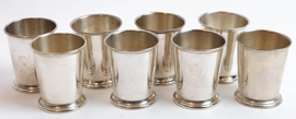 8 Sterling Silver Julep Cups by Poole Co.