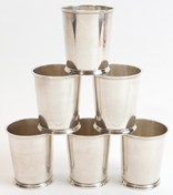 Set of 6 Sterling Silver Julep Cups by Fisher