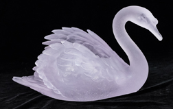 Daum Nancy Art Glass Swan Vase