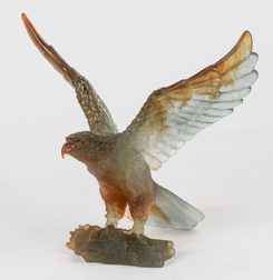 Daum Nancy Art Glass Eagle Sculpture