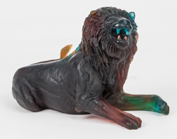 Daum Nancy African Male Lion Sculpture