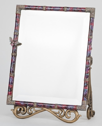 Jay Strongwater Enameled & Jeweled Mirror