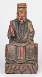 Carved & Painted Chinese Ancestral Figure