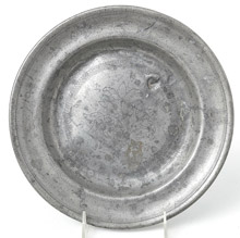 1782 Pewter Engraved Plate