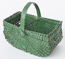 Flat Sided Basket in Old Paint
