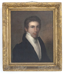 Early Oil Portrait of Young Gentleman