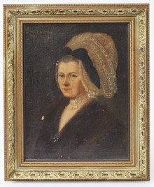 French 18th Century Portrait of A Lady