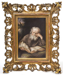 Fine Porcelain Plaque of Elderly Scholar