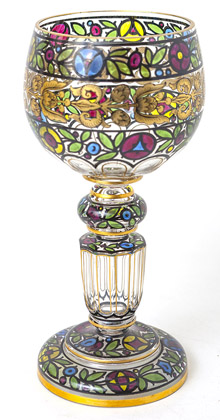 Austrian Renaissance Revival Art Glass Goblet