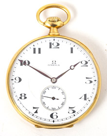 Omega 18k Gold Pocket Watch
