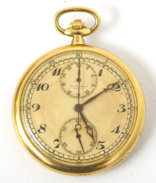 Rare Haas Neveux & Cie 18k Gold Pocket Watch