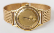 Men's Omega Automatic 18k Gold Wrist Watch
