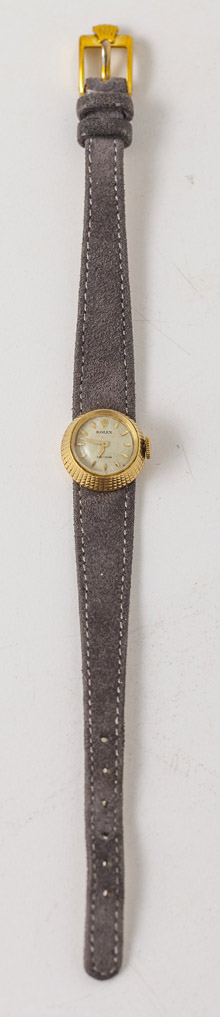 1950's Ladies 18k Gold Rolex Precision  Wrist Watch