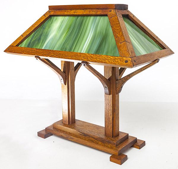 197 Arts Crafts Desk Lamp