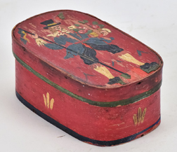 Small Decorated Bentwood Box