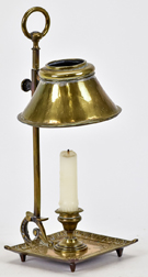 Early Brass Chamber Lamp