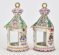Pair Chinese Export Candle Lanterns