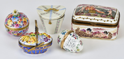 Four Porcelain Boxes Plus