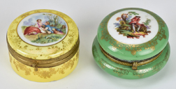 Two Porcelain Dresser Boxes