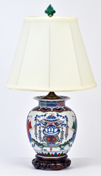 Chinese Porcelain Vase into Lamp