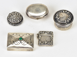 Five Small Sterling Boxes