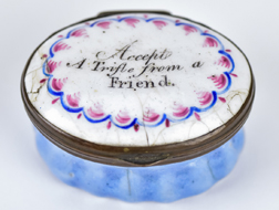 English Enameled Patch Box