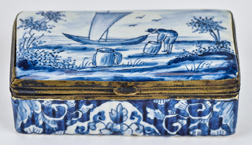 18th Century Delft Snuff Box