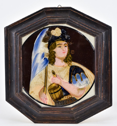 Reverse Painting on Glass of Scotsman