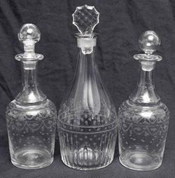 Three Early Blown Glass Decanters