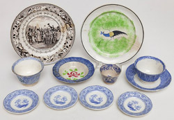 Large Group of Staffordshire Including Spatterware