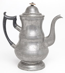 Sellew Pewter Coffee Pot