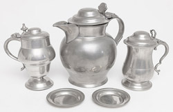 Lot of Early Pewter
