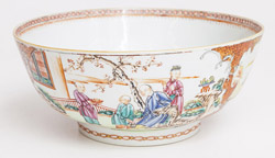 18th Century Chinese Punch Bowl