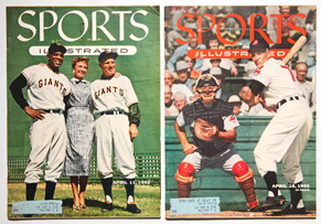 Two 1955 Issues of Sports Illustrated w/ Card Inserts