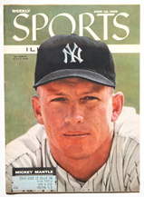 1956 Sports Illustrated w/ Mantle cover