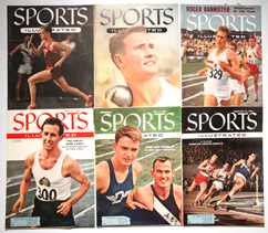 Six Sports Illustrated w/ Track & Field Covers