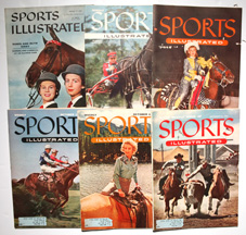 Six Sports Illustrated w/ Horse Covers